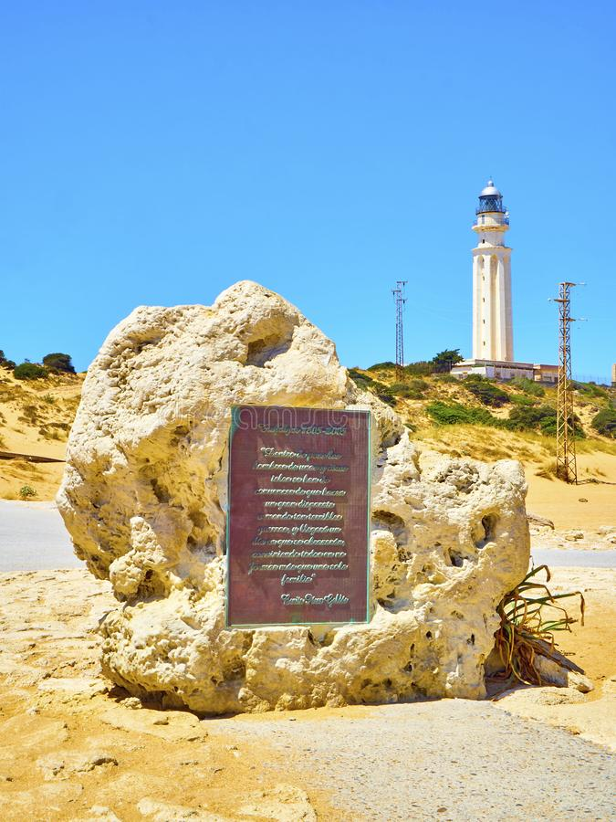 O parque natural do cabo de Cabo de Trafalgar Barbate, Espanha foto de stock