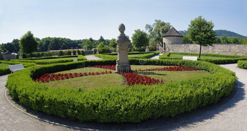 O parque perto do castelo Cerveny Kamen imagem de stock