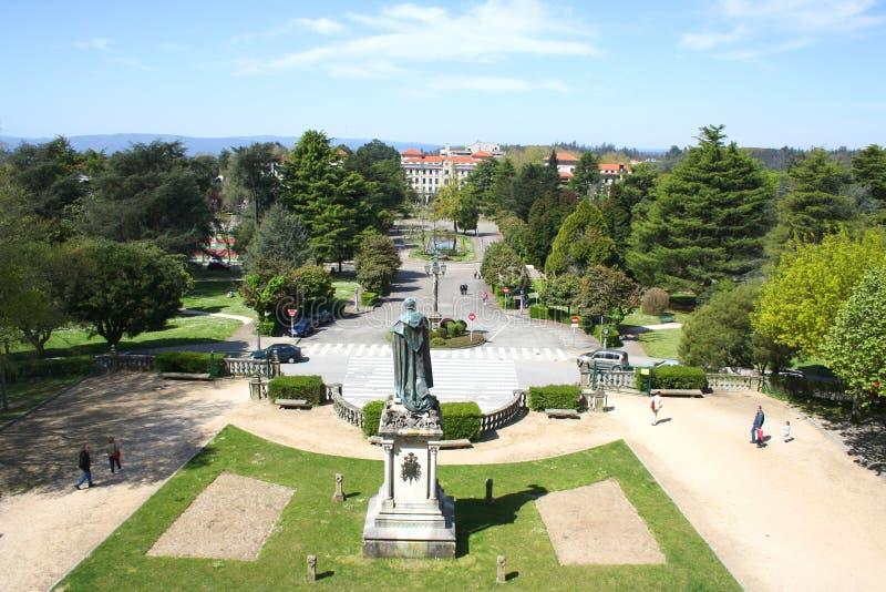 O parque, Santiago de Compostela fotografia de stock royalty free