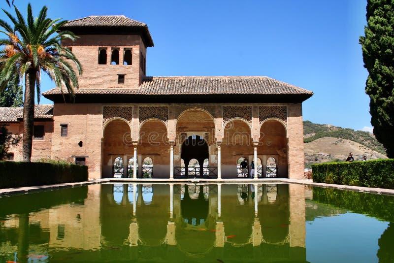 O Partal Alhambra Palace Granada, spain imagens de stock