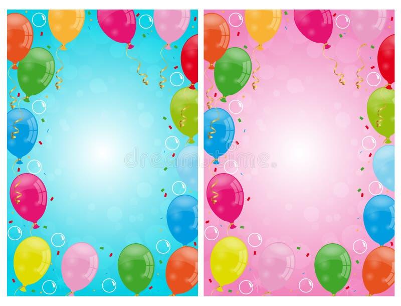 O partido balloons fundos ilustração royalty free