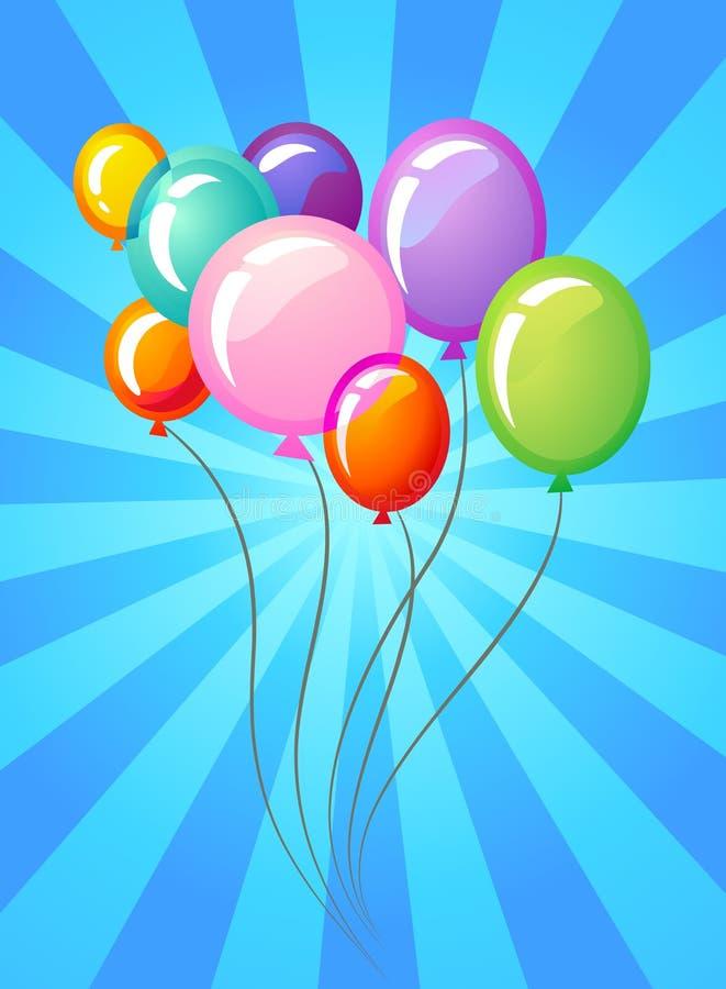 O partido balloons o molde ilustração do vetor