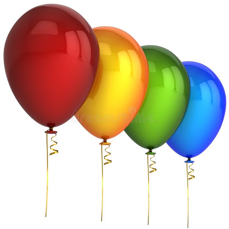 O partido Balloons (os alugueres) ilustração stock
