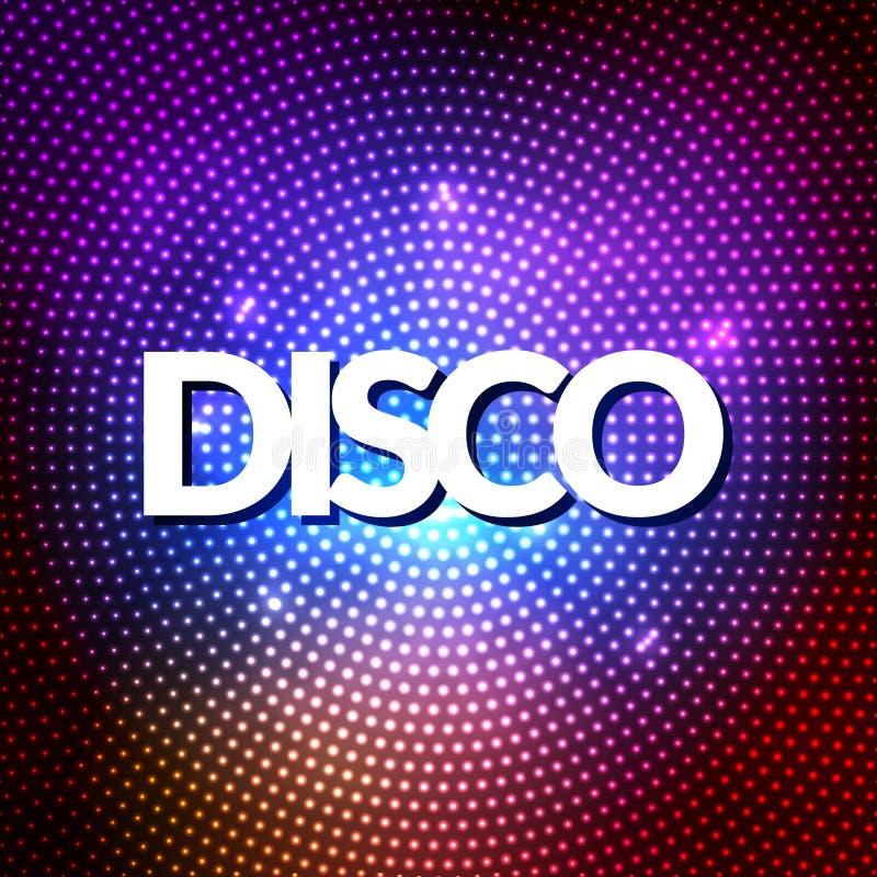 O partido de disco ilumina o fundo do ouro Fundo quente da dança Vetor do salão de baile ilustração stock