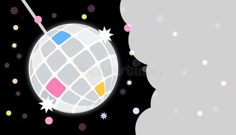 O partido do disco convida o molde do cartão ilustração royalty free