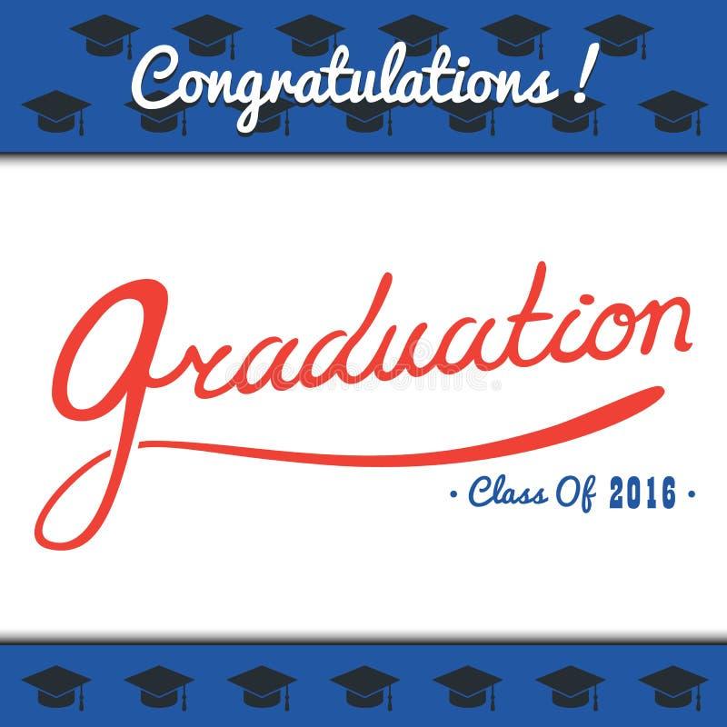 O partido do molde do vetor da graduação, Congrats, comemora, High School Grupo da faculdade Celebração do revestimento mínimo ilustração do vetor