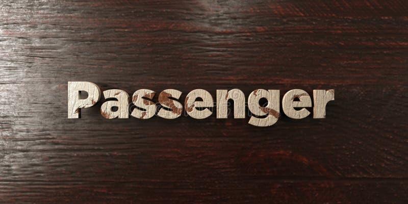 O passageiro - título de madeira sujo no bordo - 3D rendeu a imagem conservada em estoque livre dos direitos ilustração do vetor