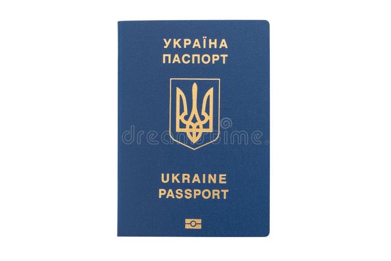 O passaporte estrangeiro de Ucrânia isolou-se no fundo branco imagens de stock royalty free