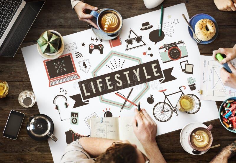 O passatempo da cultura do comportamento do estilo de vida interessa o conceito das maneiras foto de stock royalty free