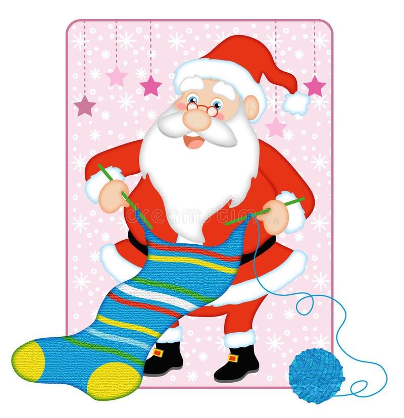 O passatempo do Natal do paizinho ilustração royalty free