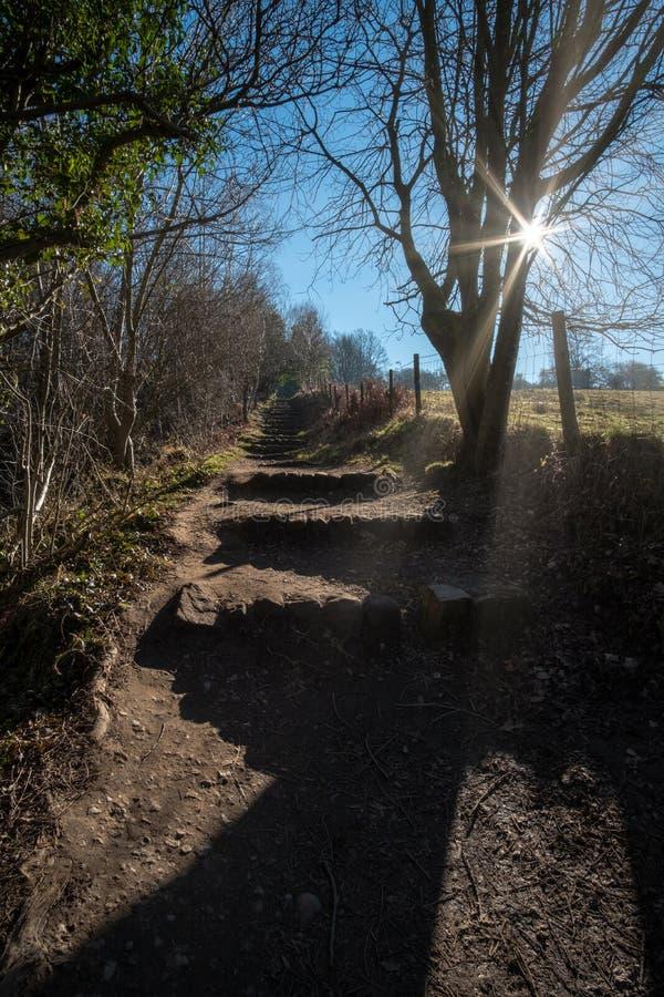 O passeio e as etapas do país em North Yorkshire amarram, Inglaterra fotos de stock royalty free