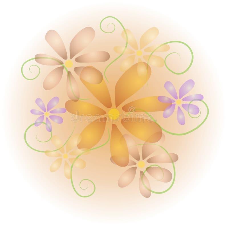 O Pastel macio floresce o fundo ilustração royalty free