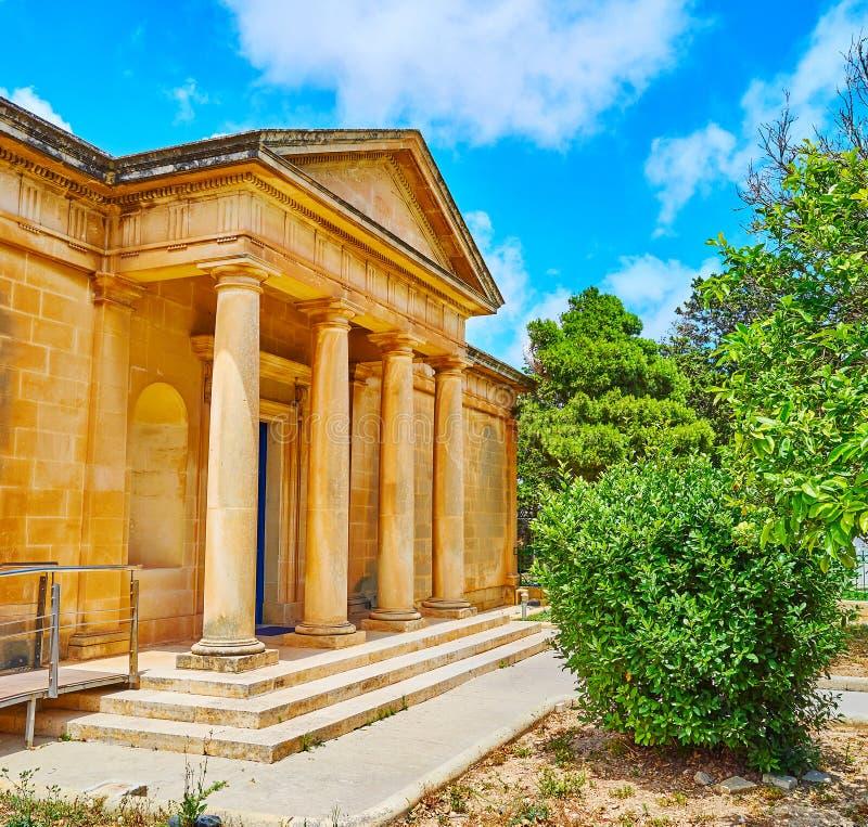O patamar de Domus Romana, Rabat, Malta imagem de stock royalty free