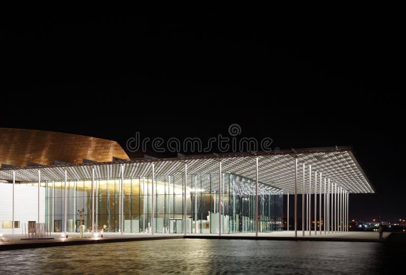 O patamar do teatro nacional bonito de Barém fotografia de stock royalty free