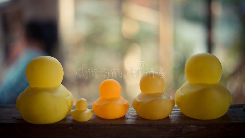 O pato de borracha para crianças foto de stock