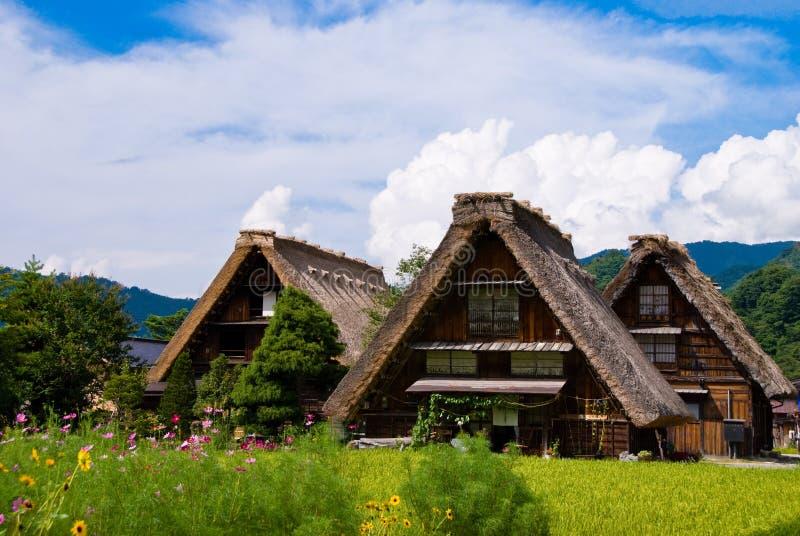O património mundial Shirakawa-vai. imagem de stock