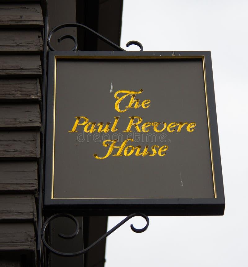O Paul Revere a casa imagens de stock