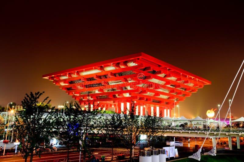 O pavilhão de China na expo do mundo em Shanghai imagens de stock royalty free