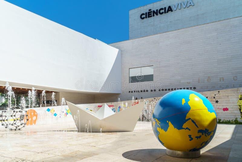 O pavilhão do conhecimento Pavilhao faz Conhecimentois ou Ciencia Viva In Lisbon foto de stock royalty free