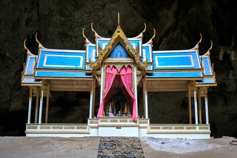 O pavilhão na caverna de Thum Phraya Nakhon localiza em Khao Sam Roi Yot National Park Prachuapkhirikhan, Tailândia fotos de stock royalty free