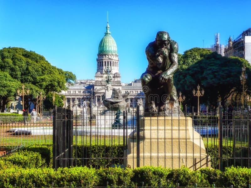 O pensador, Buenos Aires, Argentina fotografia de stock royalty free