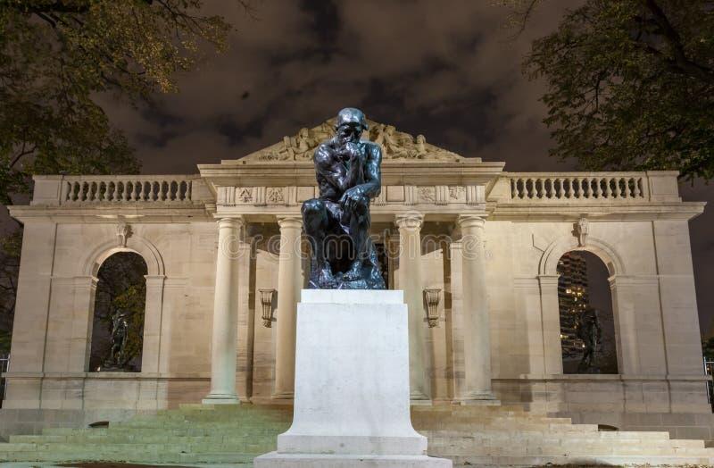 O pensador em Rodin Museum fotografia de stock royalty free