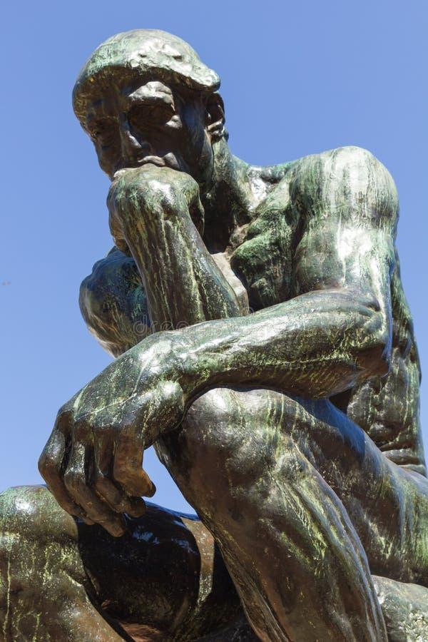 O pensador pelo Rodin-segundo molde no elenco original e assinado por Rodin ele mesmo Buenos Aires, Argentina imagens de stock
