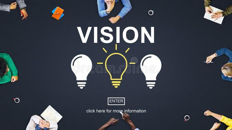 O pensamento criativo das ideias imagina o conceito da inspiração fotos de stock