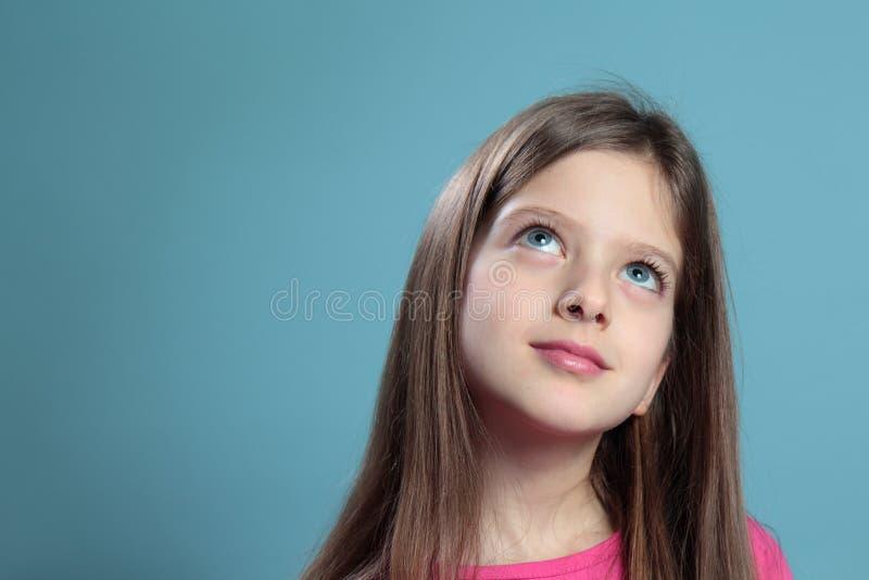O pensamento da menina. fotografia de stock royalty free
