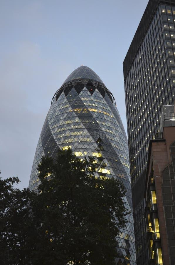 O pepino, Londres, Inglaterra fotos de stock royalty free