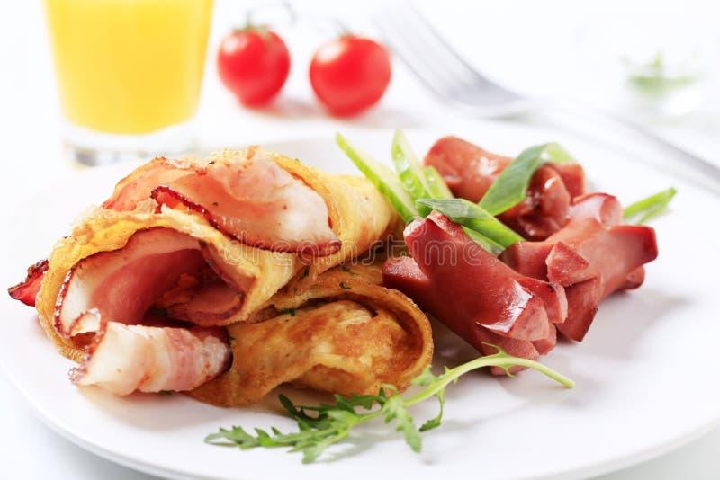 O pequeno almoço frita-acima foto de stock