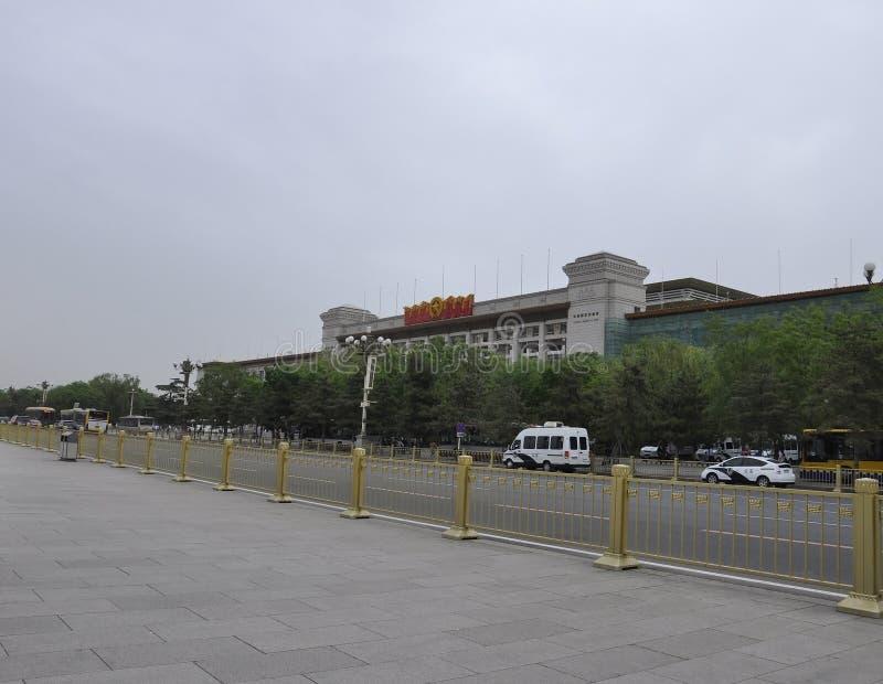 O Pequim, 5o pode: Museu Nacional da construção de China na Praça de Tiananmen no Pequim imagens de stock royalty free