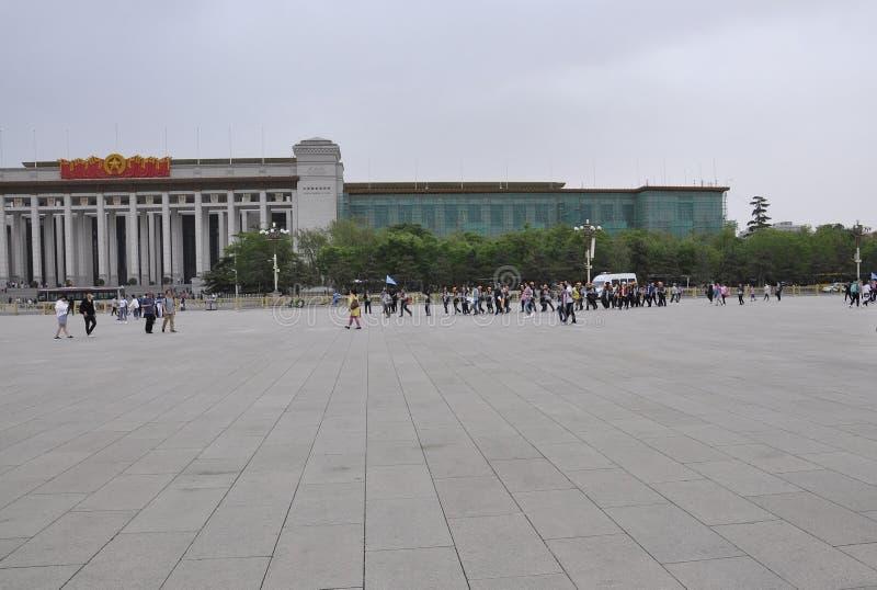 O Pequim, 5o pode: Museu Nacional da construção de China na Praça de Tiananmen no Pequim imagem de stock