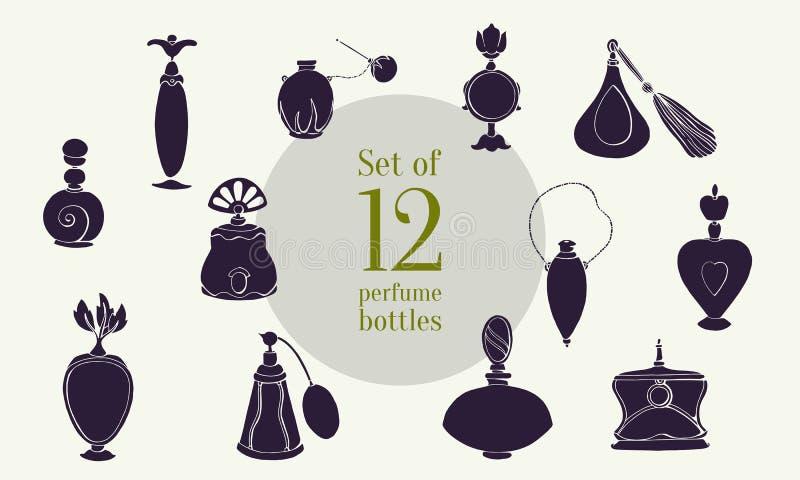 O perfume ajustou XXXV ilustração royalty free