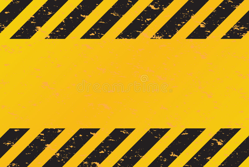 O perigo listra o vetor ilustração stock