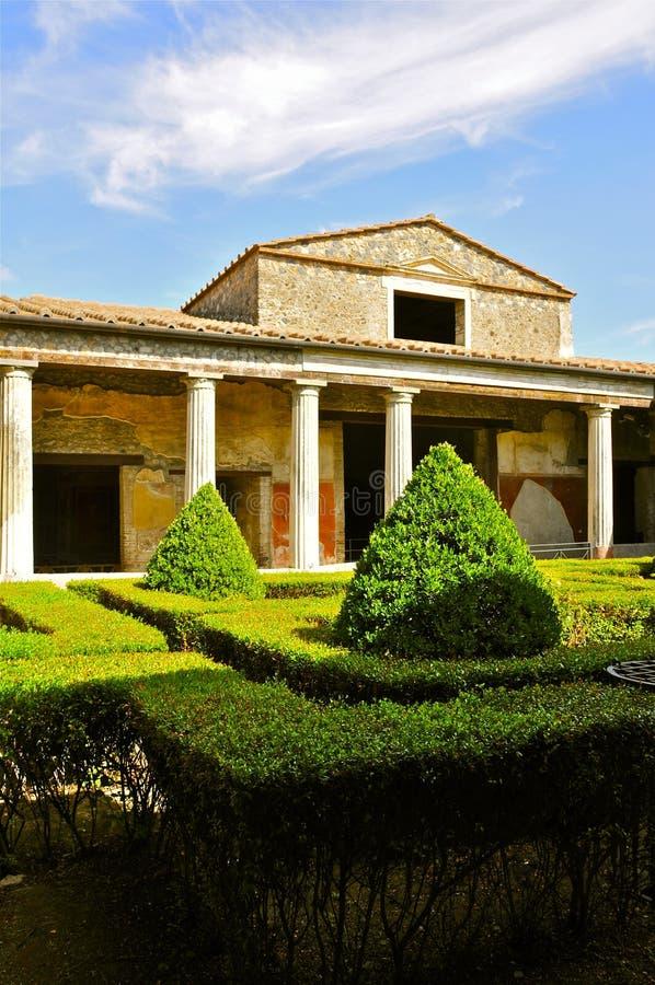 O peristilo da casa del Menandro, Pompeii fotografia de stock