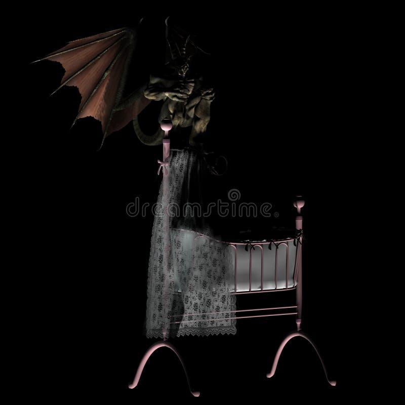 O pesadelo sonha #01 ilustração royalty free