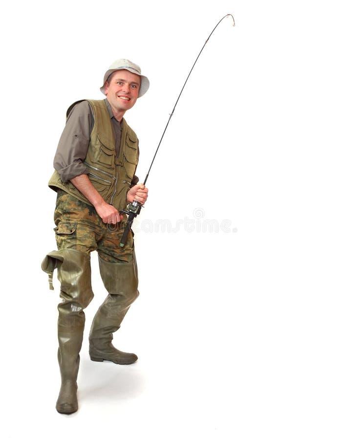O pescador. foto de stock