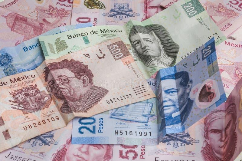 O peso mexicano enfraquece-se imagens de stock