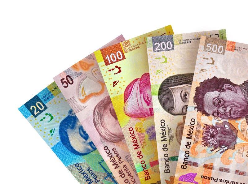O peso mexicano fatura o fundo fotos de stock royalty free