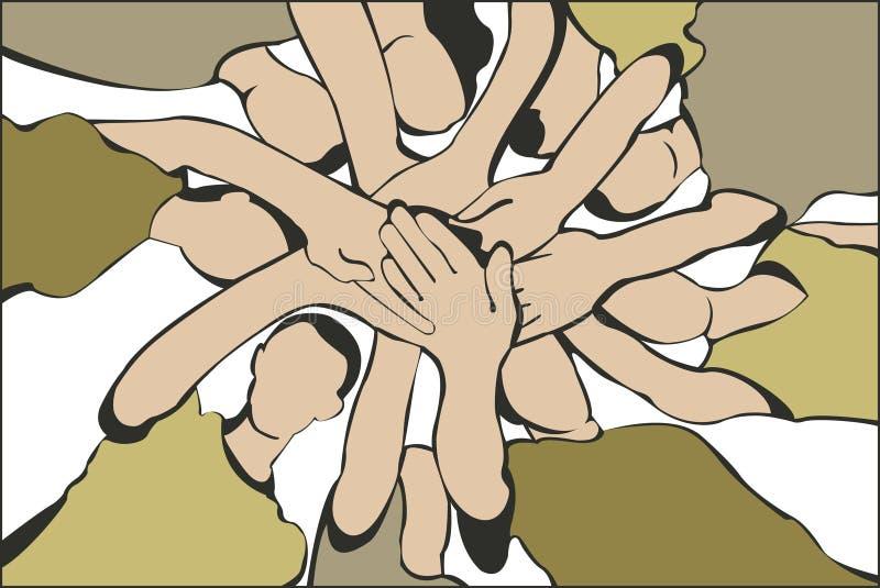 O pessoa entrega o vetor ilustração do vetor