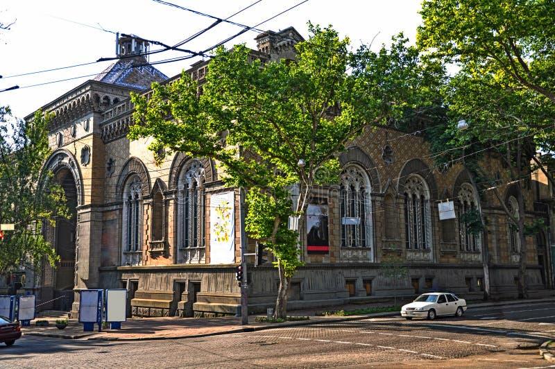 O Philharmonia de Odessa, é ficado situado na parte histórica da cidade fotos de stock