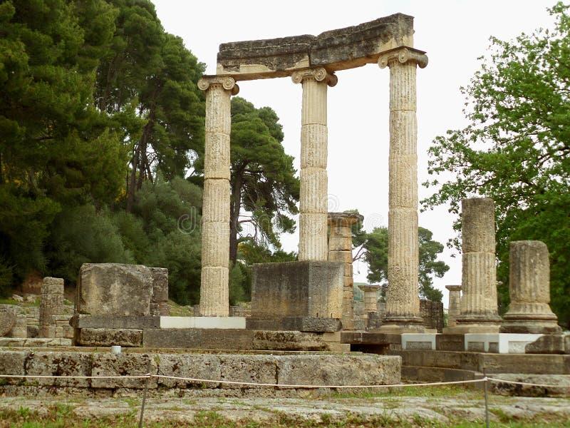 O Philippeion, santuário do grego clássico erigido pelo rei Philip II de Macedônia, Olympia Archaeological Site imagem de stock