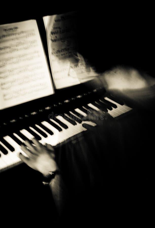 O pianista fotos de stock