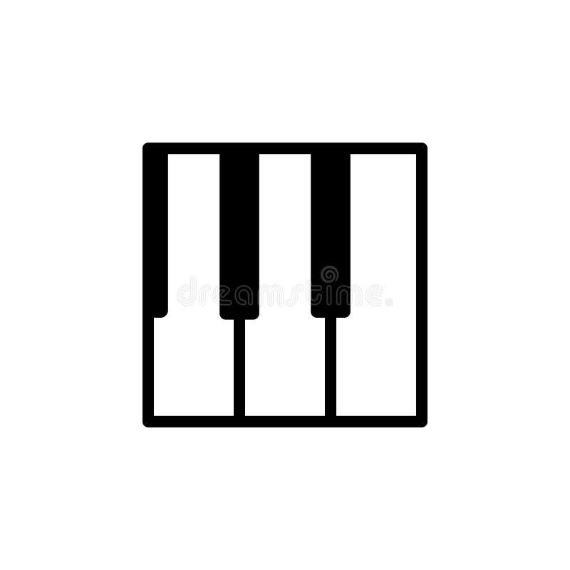 O piano fecha o ícone Elemento de ícones minimalistic para apps móveis do conceito e da Web Linha fina ícone para o projeto e o d ilustração stock