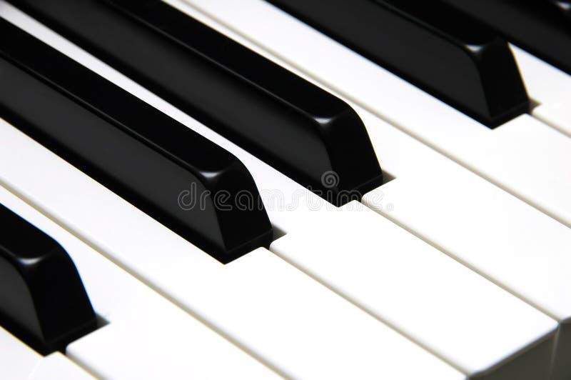 O piano fecha o close up fotografia de stock royalty free