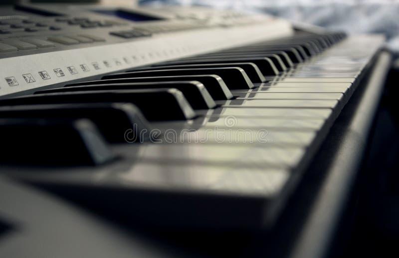 O piano fecha o close up fotografia de stock