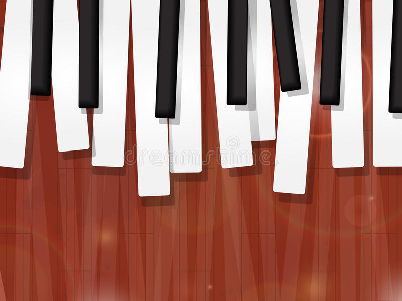 O piano fecha o grunge ilustração stock