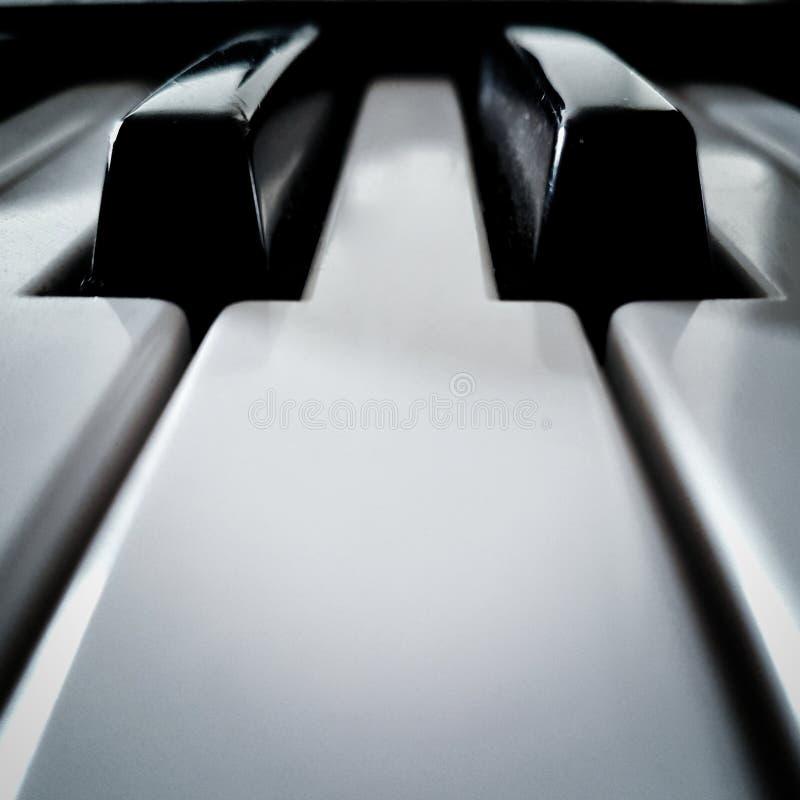 O piano fecha a perspectiva fotografia de stock