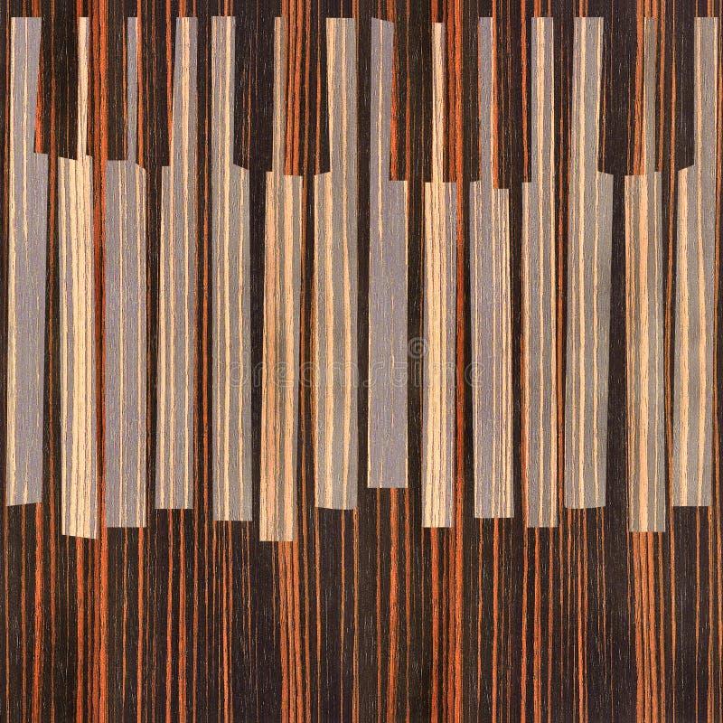O piano musical abstrato fecha - fundo sem emenda - a madeira do ébano ilustração royalty free